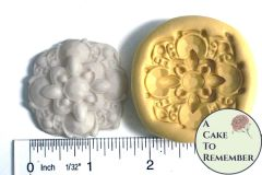 Art deco brooch mold for cake decorating, silicone food grade mold M1061