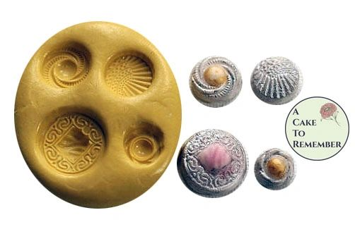 Silicone button mold for cake decorating M19