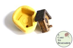 Little birdhouse silicone mold for cakes or resin M5135