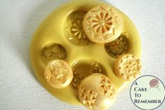 Silicone Buttons Mold for fondant M26