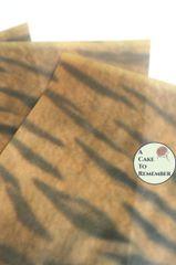 Animal print edible tiger wafer paper, 3 sheets