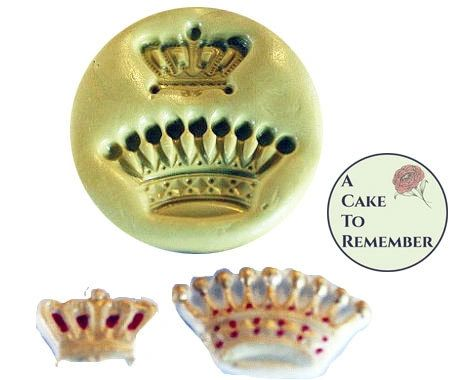 Crowns silicone mold set for polymer clay crafts M1030