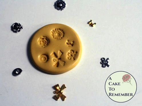 Tiny charms, bows and jewels silicone mold M5022