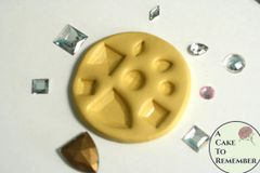 Multi Jewel mold for gumpaste jewels, cake decorating and cupcake toppers M5012