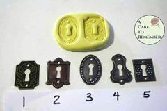 Lock plate mold for fondant or polymer clay M099