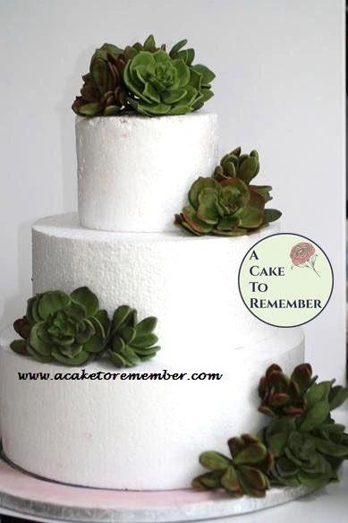 Gumpaste succulents for wedding cake, DIY wedding cake decorations, edible succulents