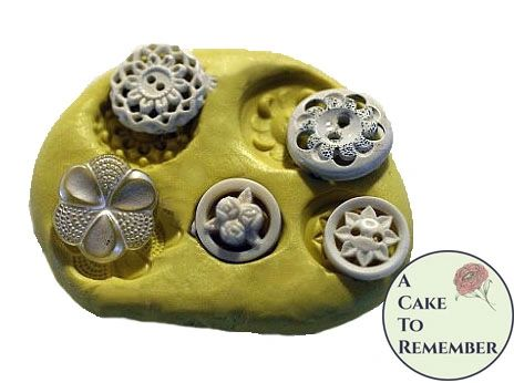 Lacy vintage buttons silicone mold M29