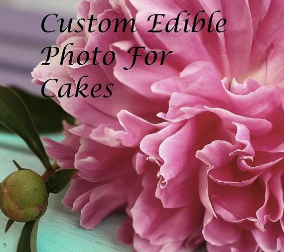 Custom edible wafer paper photo for cakes