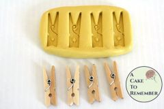 "3/4"" Mini clothespin silicone mold for resin or cakes M092"