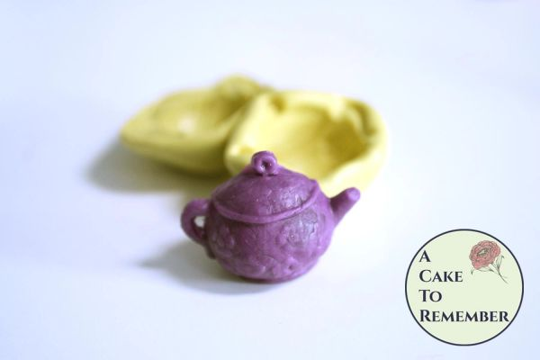 Little teapot 3D silicone mold for cupcake toppers