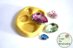 4 shapes of jewels silicone mold for cakes, resin or soap embeds M5140