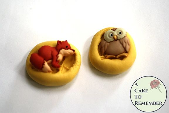 Owl and fox food safe silicone mold M5188