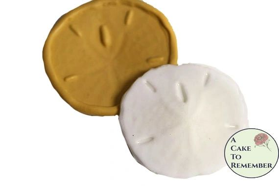 Small flexible silicone sand dollar mold M41