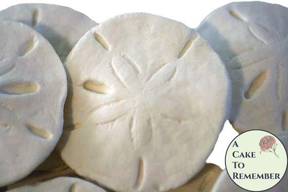 Gumpaste sand dollars for cake decorating, edible sand dollars