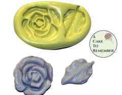 "1"" Silicone flower and leaf mold for soap embeds M041"