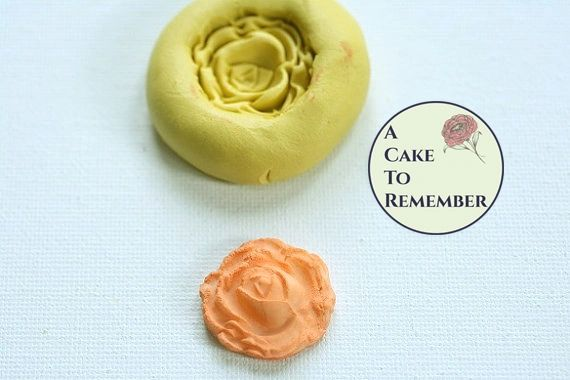 Silicone rose mold for cake decorating, cupcakes decorating, cake pops, chocolate, hard candy, polymer clay, resin, or wax, silicone mould. M040