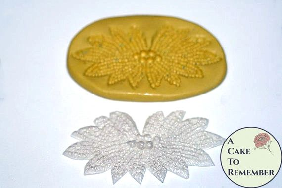 Silicone beaded medallion cake lace mold M063