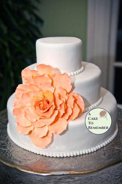 Large Gumpaste Flower for Wedding Cakes, DIY wedding cake