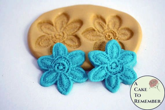Flower fondant lace mold, flower lace M1066