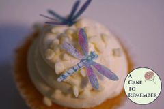 24 detailed wafer paper edible cake decorating dragonflies, 1 1/4""