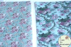 2 full sheets floral printed wafer paper, free US shipping