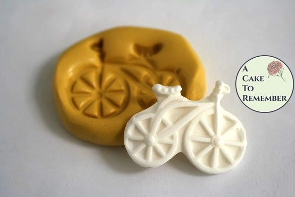 Small bicycle silicone mold for cake decorating M5075