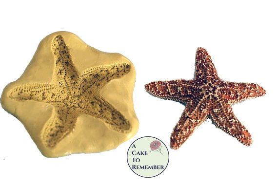 "2"" Silicone starfish mold to make for fondant and cake decorating"
