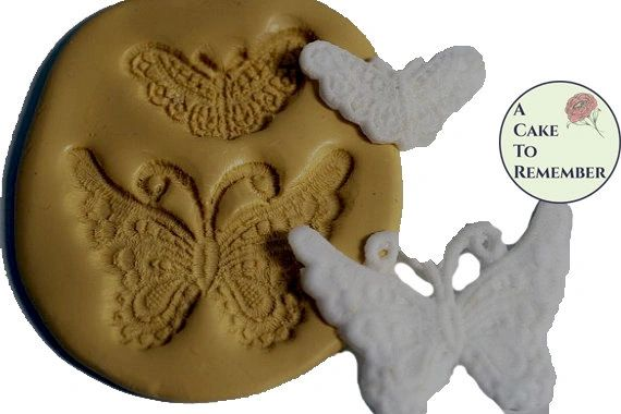 Butterfly silicone lace mold medallion set. M074