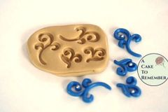 Silicone scroll mold for cake pops M02
