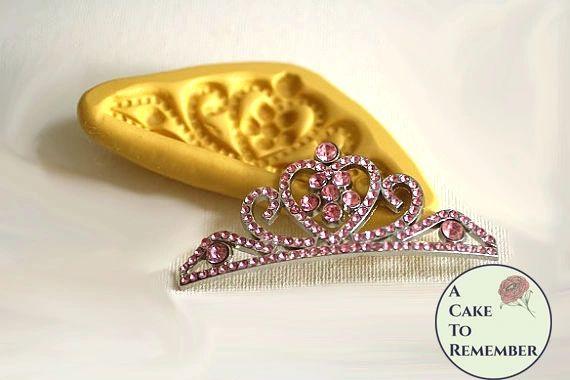 Silicone tiara mold for fondant and gumpaste. M5059