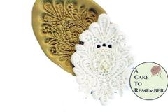 Large lace medallion silicone mold for cake decorating