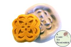 "Silicone Button medallion 1.25"" flower mold for soap embeds M18"