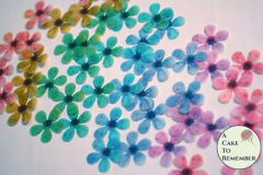 48 wafer paper rainbow cherry blossoms for cupcake toppers