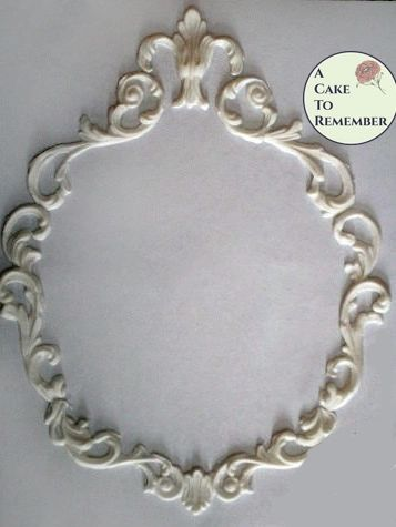 Scrollwork frame food safe silicone mold, set or individual pieces. M055