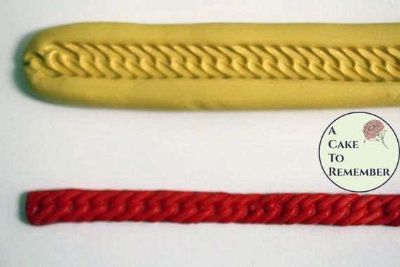 "11 "" Silicone braided chain mold M08"