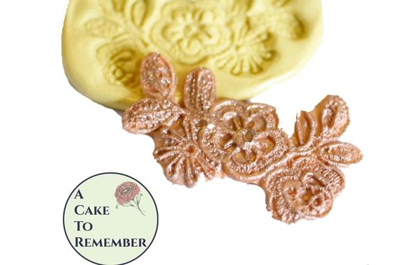 Small floral silicone lace mold for cake decorating M078