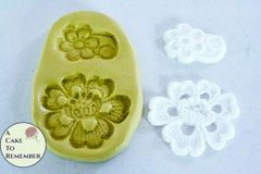 Alencon lace flower silicone mold for cake decorating. M1002