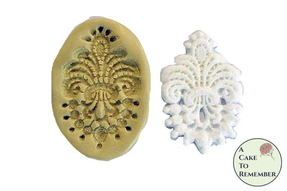 Silicone small lace medallion mold for cake decorating M1037