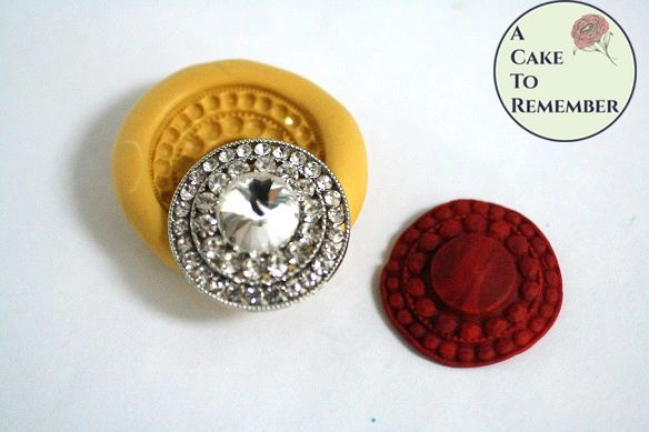 Round jewel silicone mold for cakes, soap embeds, resin crafts M5106