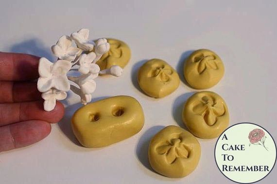 Flower mold, lilac mold for gumpaste lilacs for cake decorating or polymer clay.