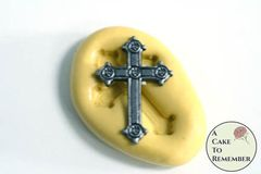 Little cross miniature food grade silicone rubber mold M1028