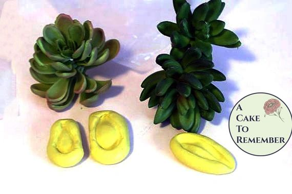 Silicone succulent mold or veiner for thin petals M080