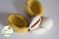 "Silicone 1.25"" cowrie shell mold for cake decorating and crafts. M5152"