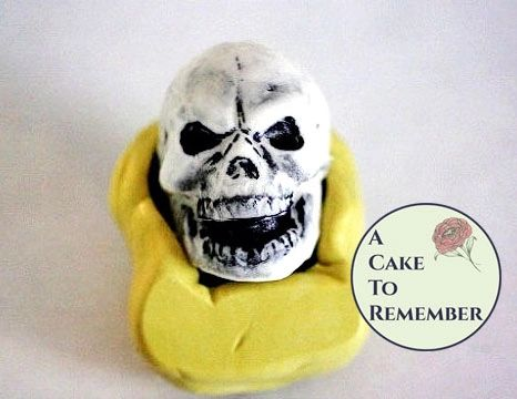 Silicone large skull mold for Halloween cake decorating M019