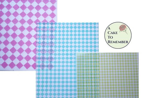 3 full sheets diamonds printed wafer paper (choose one color) for cake decorating
