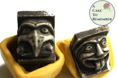 Small gargoyle mold set for cake decorating and crafting M5184
