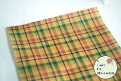 Autumn colors plaid edible wafer paper- 3 sheets