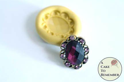 Oval jewel mini food grade silicone rubber mold M5173