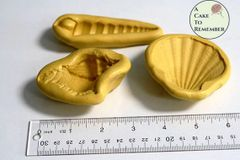 SET of large shell molds for cake decorating or melt and pour soap making M34