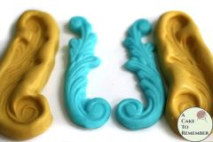 Large scroll mold set, swag mold for cake decorating M5038